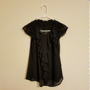 H&M black work blouse